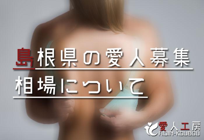 島根県の愛人募集相場について