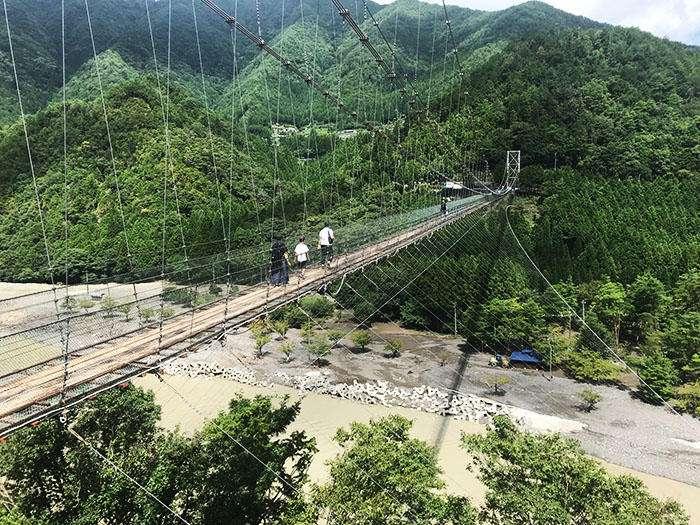 奈良×愛人デートスポット④:谷瀬の吊り橋